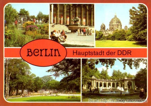 Pocztówka z Berlina - stolicy NRD, ok. 1984