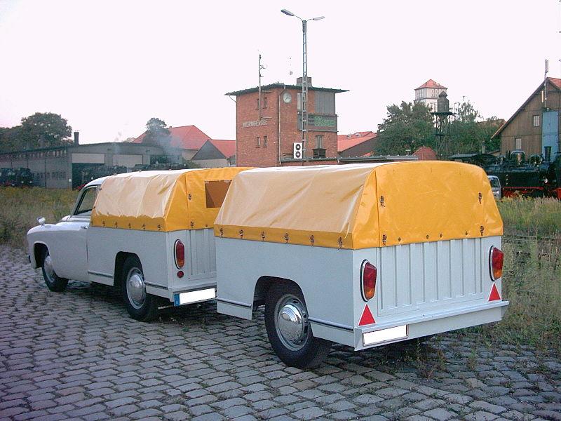 Wartburg 311/7 Schnelltransporter z przyczepą