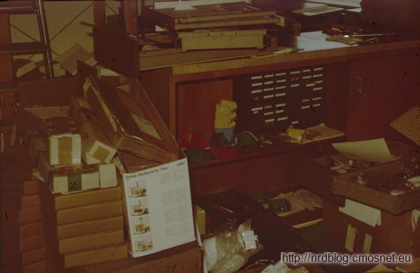 Bałagan w warsztacie, Frankfurt, 1987