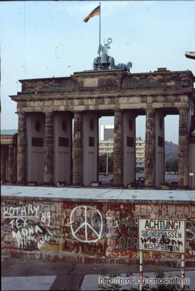 Brama Brandenburska od strony zachodniej, Berlin Zachodni, lato 1989