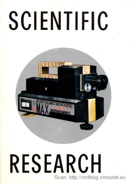 Elektromikroskop, Włochy, ok. 1973 - okładka instrukcji