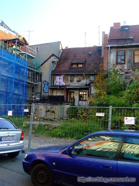 Zaniedbane budynki w Erfurcie