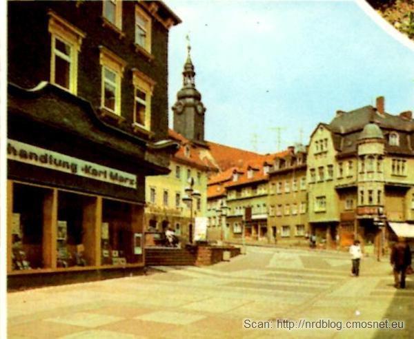 Pocztówka z Ilmenau - główna ulica, NRD, ok. 1975