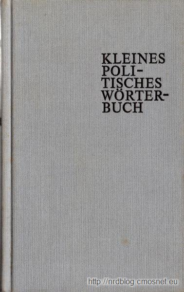 Kleines Politisches Wörterbuch, NRD, 1977