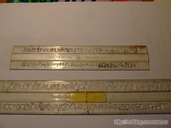 Szablony pisma technicznego z NRD