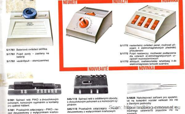 Katalog kolejek PIKO, skala H0 - automatyka, NRD, ok. 1975