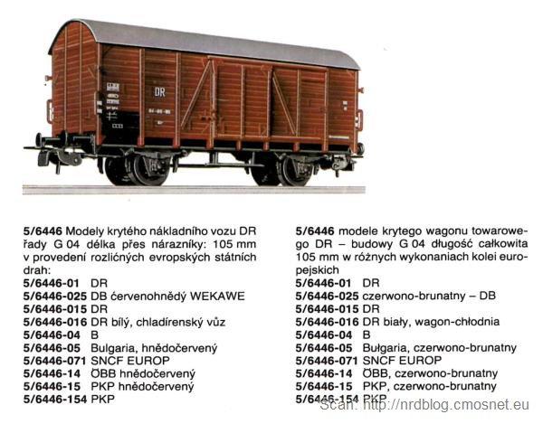 Katalog kolejek PIKO, skala H0 - wagon towarowy, NRD, ok. 1975