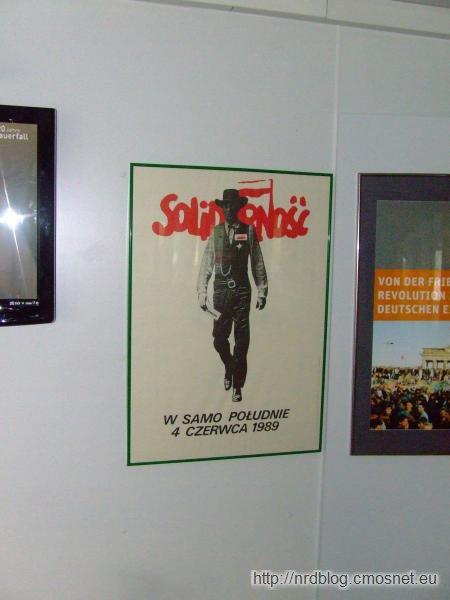 Grenzmuseum Schifflersgrund - plakat Solidarności