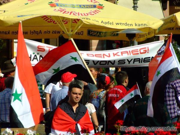 Demonstracja w sprawie Syrii, Frankfurt