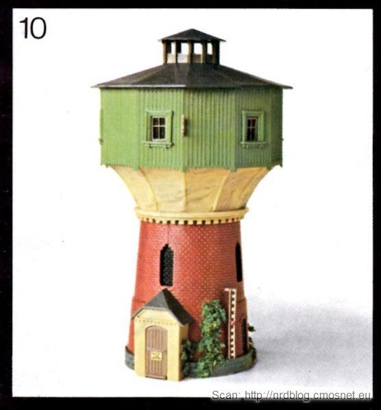 Katalog domków do kolejek VERO - wieża ciśnień, NRD, ok. 1975
