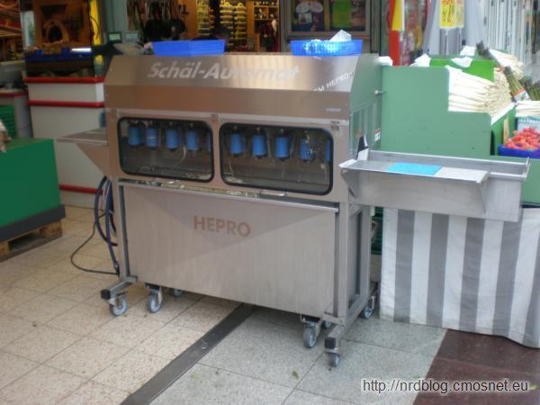 Automat do obierania szparagów
