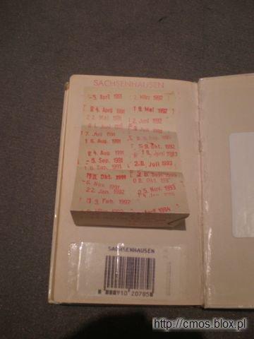 Książka ze stemplami