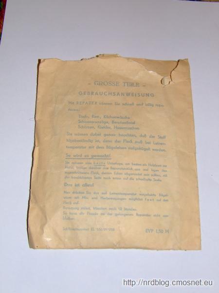 Łatki do prasowania z NRD, ok. 1978