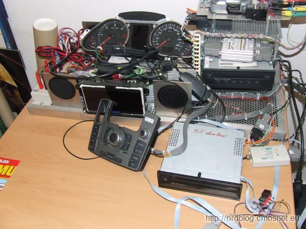 Małe stanowisko testowe elektroniki do Audi A6