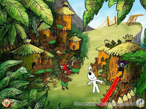 """Screenshot z gry """"Reksio i skarb piratów"""""""