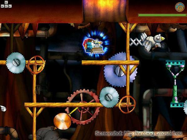 """Screenshot z gry """"Reksio i wehikuł czasu"""""""
