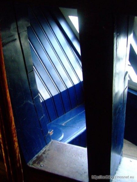 Het Scheepvaartmuseum Amsterdam - toaleta kapitańska w skrzydle rufówki