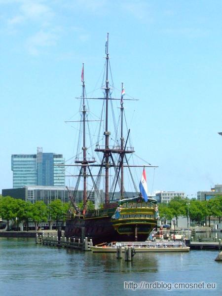 "Het Scheepvaartmuseum Amsterdam - replika żaglowca ""Amsterdam"""