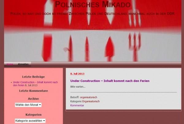 Screenshot http://polenblog.cmosnet.eu